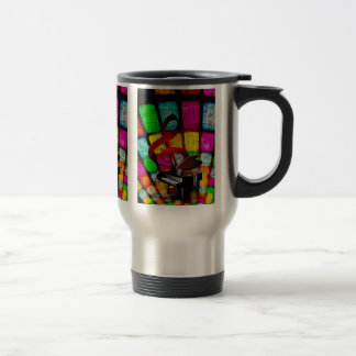 Colorful and Jazzy Treble Clef and Piano Coffee Mugs