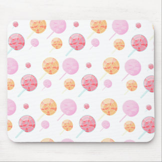 Colorful and multicolored lollipop pattern mouse pad