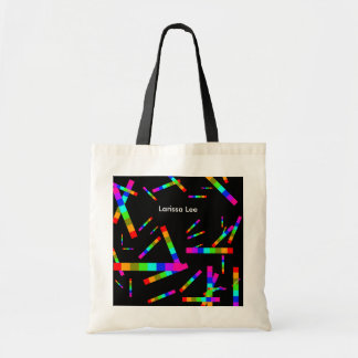 colorful and personalized tote bag