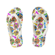 Colorful and playful German Shepherd Kid's Flip Flops