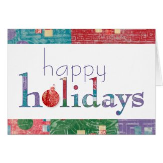 Colorful and Playful Happy Holidays Card