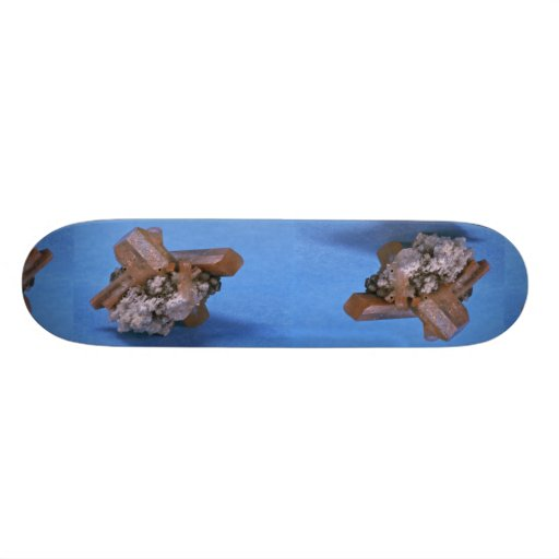 Colorful and shiny Topaz crystals Custom Skate Board