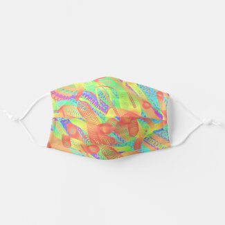 Colorful and strange geometric pattern - cloth face mask