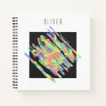 Colorful and strange geometric pattern notebook