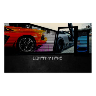 Colorful And Stylish Car Company Business Card