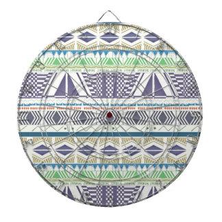 Colorful and Unique Aztec Art Dart Board