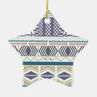 Colorful and Unique Aztec Art Ornament