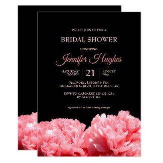 Colorful and Vibrant Black & Pink  Bridal Shower Invitation