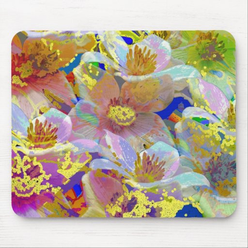 Colorful Anemone Abstract Mouse Pad