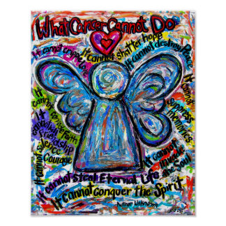 Colorful Angel Angel Poster Print