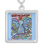 Colorful Angel Cancer Cannot Necklace Jewelry
