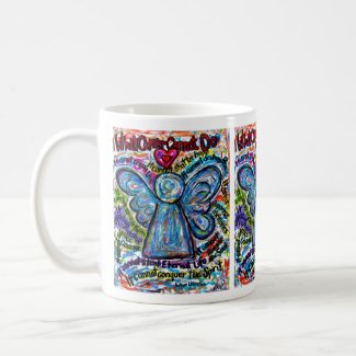 Colorful Angel Cancer Cannot Poem Coffee Mug