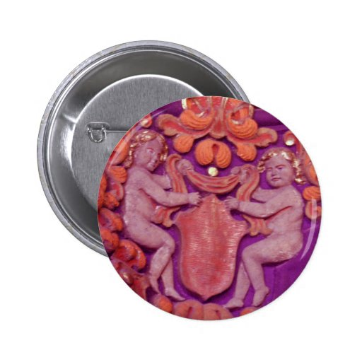 colorful angel cherubs pinback buttons