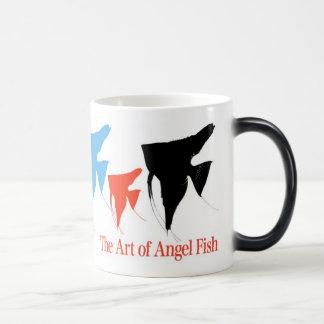 Colorful angel fish 2 magic mug