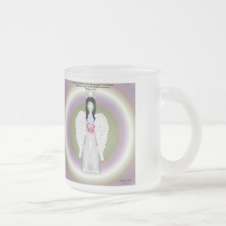 Colorful Angel Frosted Glass Coffee Mug