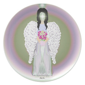 Colorful Angel Melamine Plate