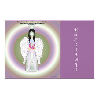 Colorful Angel Stationery