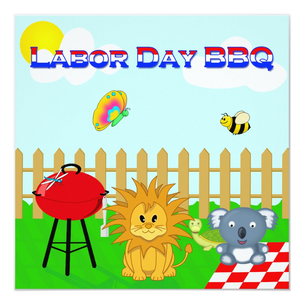 BBQ Cartoon Labor Day  Labor Day Bbq Party