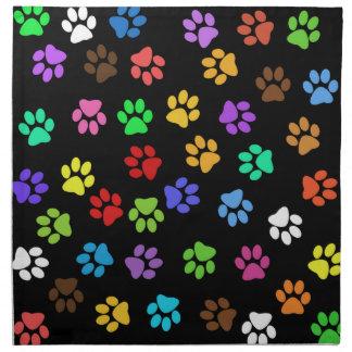 Colorful Animal Footprints Napkin