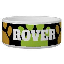 Colorful Animal Paw Print Bowl