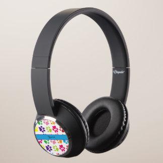 Colorful Animal Paw Prints Headphones