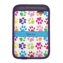 Colorful Animal Paw Prints Sleeve For iPad Mini