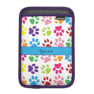 Colorful Animal Paw Prints Sleeve For iPad Mini