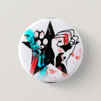 Colorful animal rights badge button