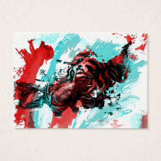 Colorful Animal Tiger Business Card