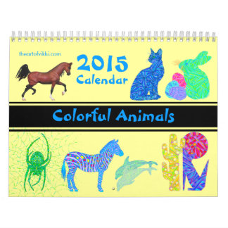 Colorful Animals 2015 Calendar Fun Every Month