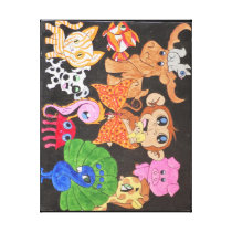 Colorful Animals Canvas Print
