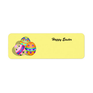 Colorful animated Easter Eggs label