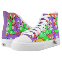 Colorful animated Teddy Bears High-Top Sneakers