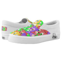 Colorful animated Teddy Bears Slip-On Sneakers