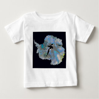 Colorful Antarctica and Orca. Baby T-Shirt