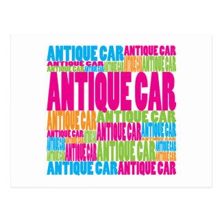 Colorful Antique Car Postcard