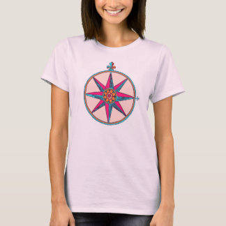 Colorful Antique Compass Rose / Star from Old Map T-Shirt