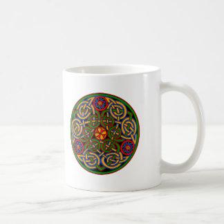 Colorful Antique Style Celtic Art Coffee Mug