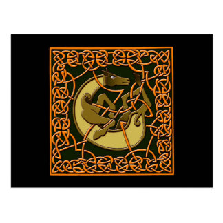 Colorful Antique Style Celtic Art Gifts and Tees Postcard