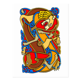 Colorful Antique Style Celtic Art - Great Gift! Postcard