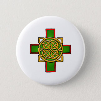 Colorful Antique Style Celtic Art Tees and Gifts Pinback Button