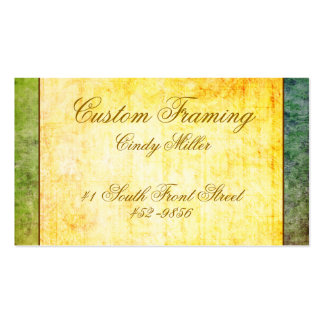 Colorful Antique Yellow Business Card
