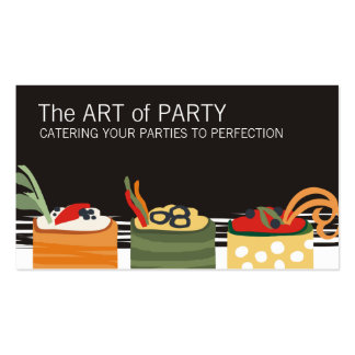 colorful appetizers chef catering business card... Double-Sided standard business cards (Pack of 100)