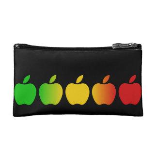 Colorful Apples cosmetics bag
