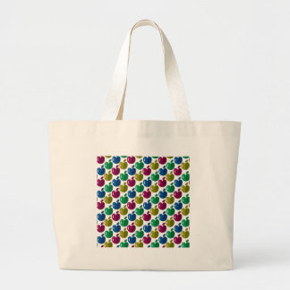 Colorful apples large tote bag