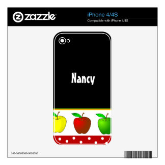 Colorful Apples Teacher iPhone 4 Skin