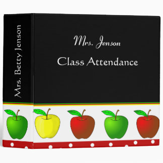 Colorful Apples Teacher's Binder