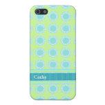 Colorful Aquamarine & Chartreuse iPhone 5 Case