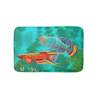 Colorful Aquarium Killifish Bath Mat Bath Mats