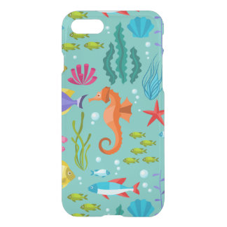 Colorful aquatic life & animals pattern iPhone 8/7 case